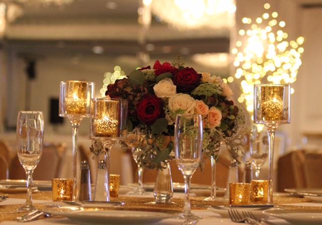 Burgundy and Champagne at Loews Coronado | San Diego Wedding Florist ...
